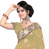 Appealing Beige and Purple Colored 60 gm Printed Saree
