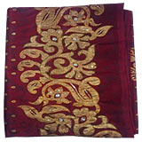 Amazing Maroon Colored organza embroided Saree