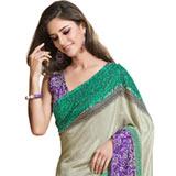 Gorgeous looking multicolor silk printed saree