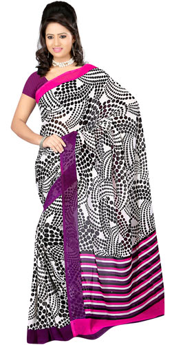 Eye-Catching Dani Georgette Printed Saree