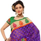 Astonishing Bhagalpuri JQ Printed Multicoloured Saree with Net JQ