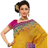 Admirable Mustered Coloured Silk Saree