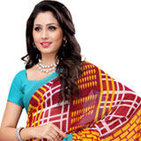 Amazing Maroon and Turquoise Coloured Heavy Dani Georgette Printed Saree