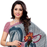 Admirable Teal and White Coloured Renial Georgette  Printed Saree