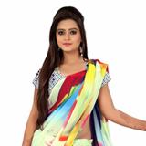 Admirable Multicoloured Digital Printed Saree