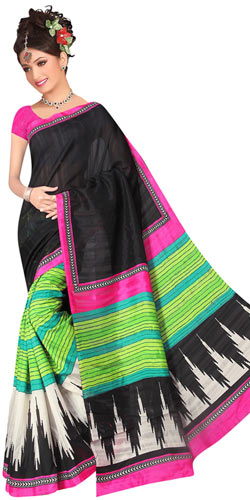Marvelous Colour Co-Ordinated Art Silk Saree in Printed Design from Royal