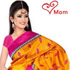 Fascinating Suredael Branded Colourful Bhgalpuiri Silk Printed Saree