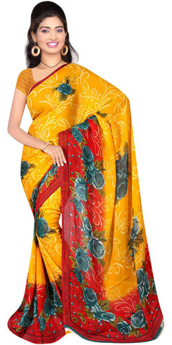 Exquisite Suredeal Georgette Printed Saree for Women