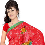 Gorgeous Desi Style Suredeal Georgette Printed Saree