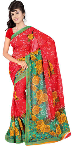 Traditional Suredeal Women's Georgette Printed Saree