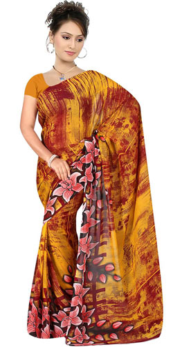 Admirable Suredeal Collection Georgette Printed Saree