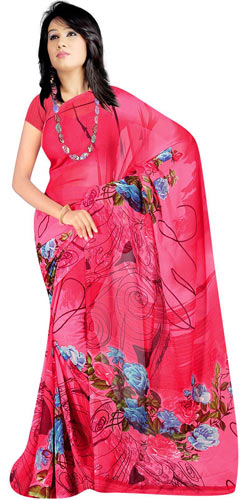 Magnificent Georgette Printed Suredeal Saree