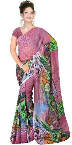 Sizzling Women's Suredeal Georgette Printed Saree