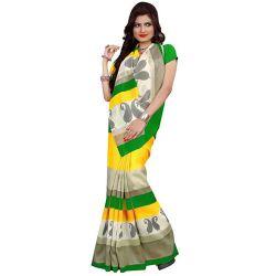 Stylish Rainbow Crepe N Chiffon Printed Saree Collection