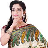 Charming Women�s Multicolour Crepe Printed Saree