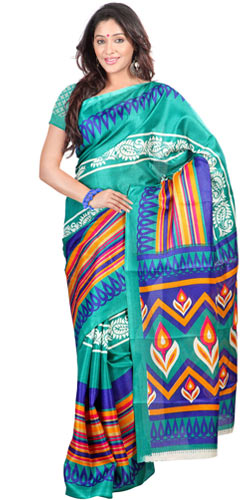 Dazzling Bhagalpuri Printed Silk Saree