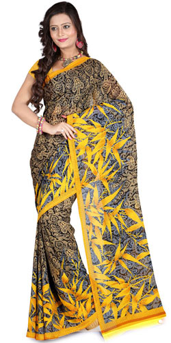 Exotic Effulgence Faux Georgette Saree