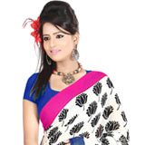 Spectacular Faux Georgette Printed Saree