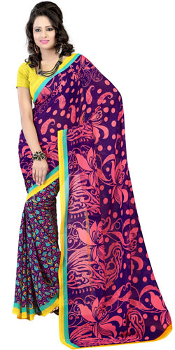 Beguiling Elegance Faux Georgette Saree