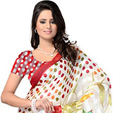 Adorned Animation Georgette Saree