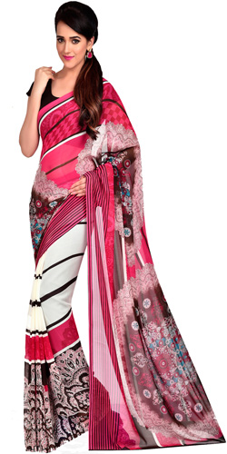 Enthralling Radiance Dani Georgette Saree