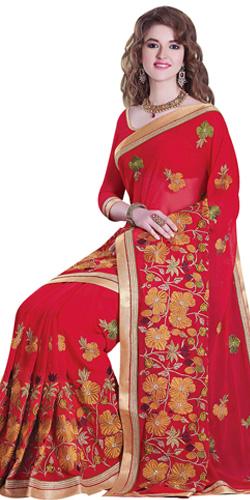 Dazzling Designer Tussar Silk Saree