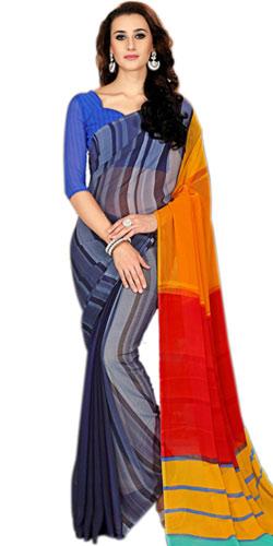 Superb Designed Marble Chiffon Saree for Pretty Ladies