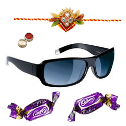 Chic Unisex Sunglasses in Black shades from Fastrack with Chocolate