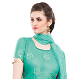 Beautiful looking multicolor embroidered chiffon saree