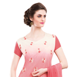 Admirable Red and Cream Coloured Embroidered Salwar Kameez