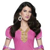 Admirable Pink Coloured Cotton Printed Patiala Suit