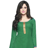 Admirable Deep Green Coloured Pure Cotton Patiala Suit