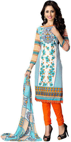 Classy Colour Co-Ordinated Cotton Printed Suredael Suit