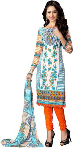 Classy Colour Co-Ordinated Cotton Printed Suredael Suit