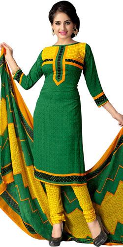 Suave Art Silk Women's Colour Co-Ordinated Printed Suit