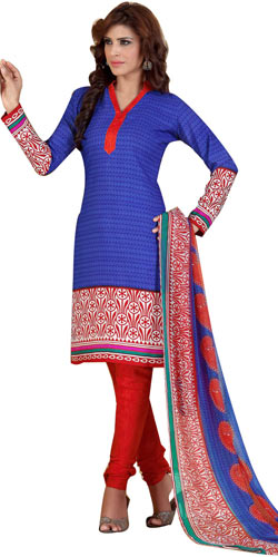 Sizzling Siya Branded Crepe and Chiffon Printed Salwar Suit