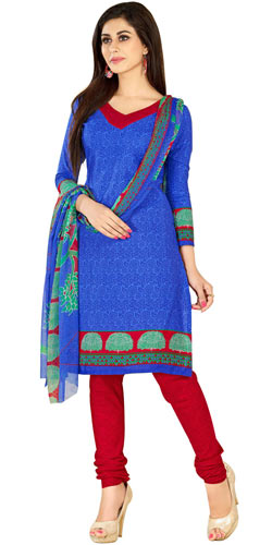 Astonishing Cotton and Chiffon Printed Welcome Salwar Suit