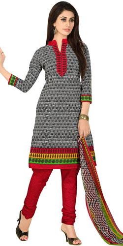 Fabulous Women's Welcome Cotton N Chiffon Printed Salwar Suit