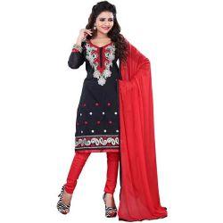Suave Women�s Cotton Printed Salwar in Black Colour