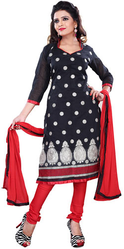 Exclusive Black Collection Cotton Printed Salwar