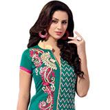 Extravagant Printed Chanderi Salwar Suit