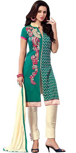 Soothing Printed Chanderi Salwar Suit