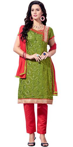 Spectacular Chanderi Printed Salwar Suit