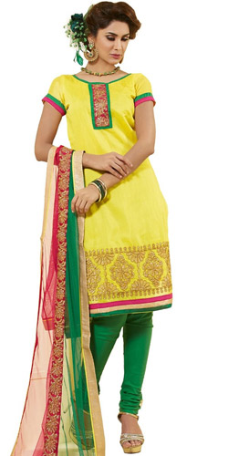 Chromatic Display Chanderi Dress Material