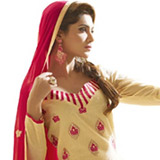 Voguish Finesse Chanderi Dress Material