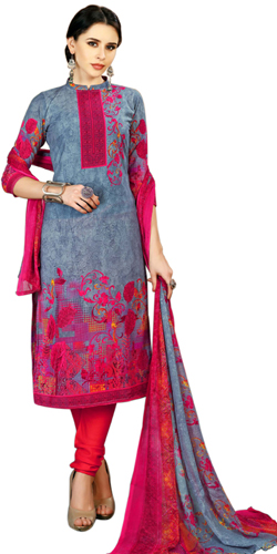 Beautiful Spun Cotton Salwar Suit with Eye-Catching Colors