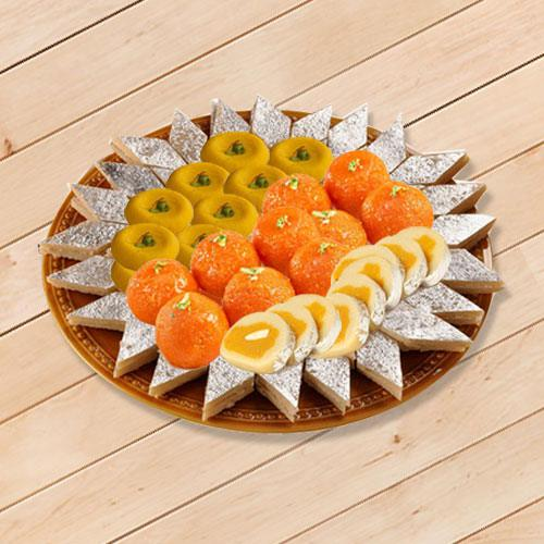 Enjoyable Sweets Platter 1kg from Bhikaram