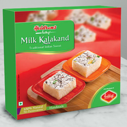 Send Haldirams Relish�s Rejoice Milk Kalakand Sweets Box to Kerala
