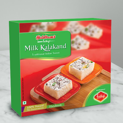Taste's Pride Milk Kalakand Sweets Box from Haldirams