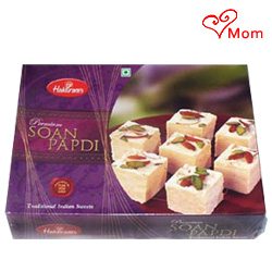 Eye-Catching 1/2 Kg Soan Papdi from Haldiram Filled with Happiness